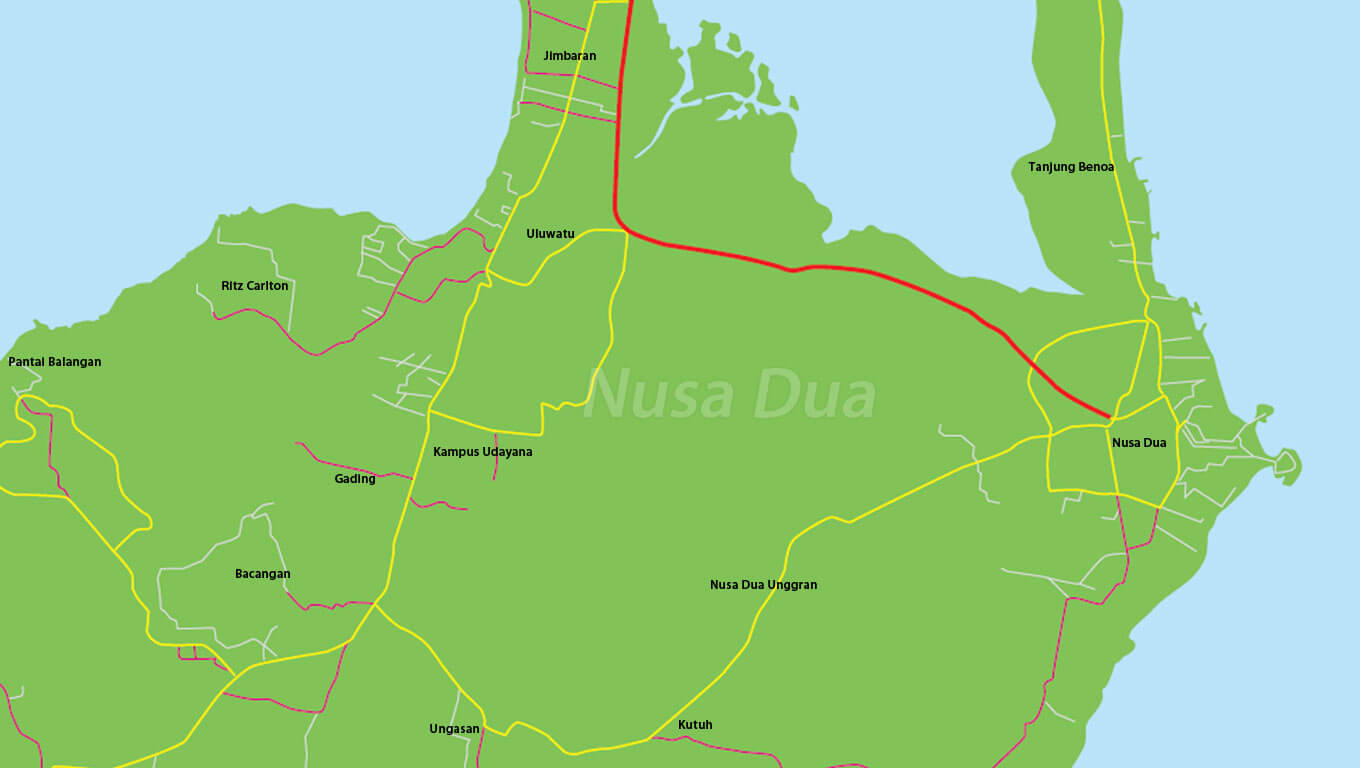 Nusa Dua map