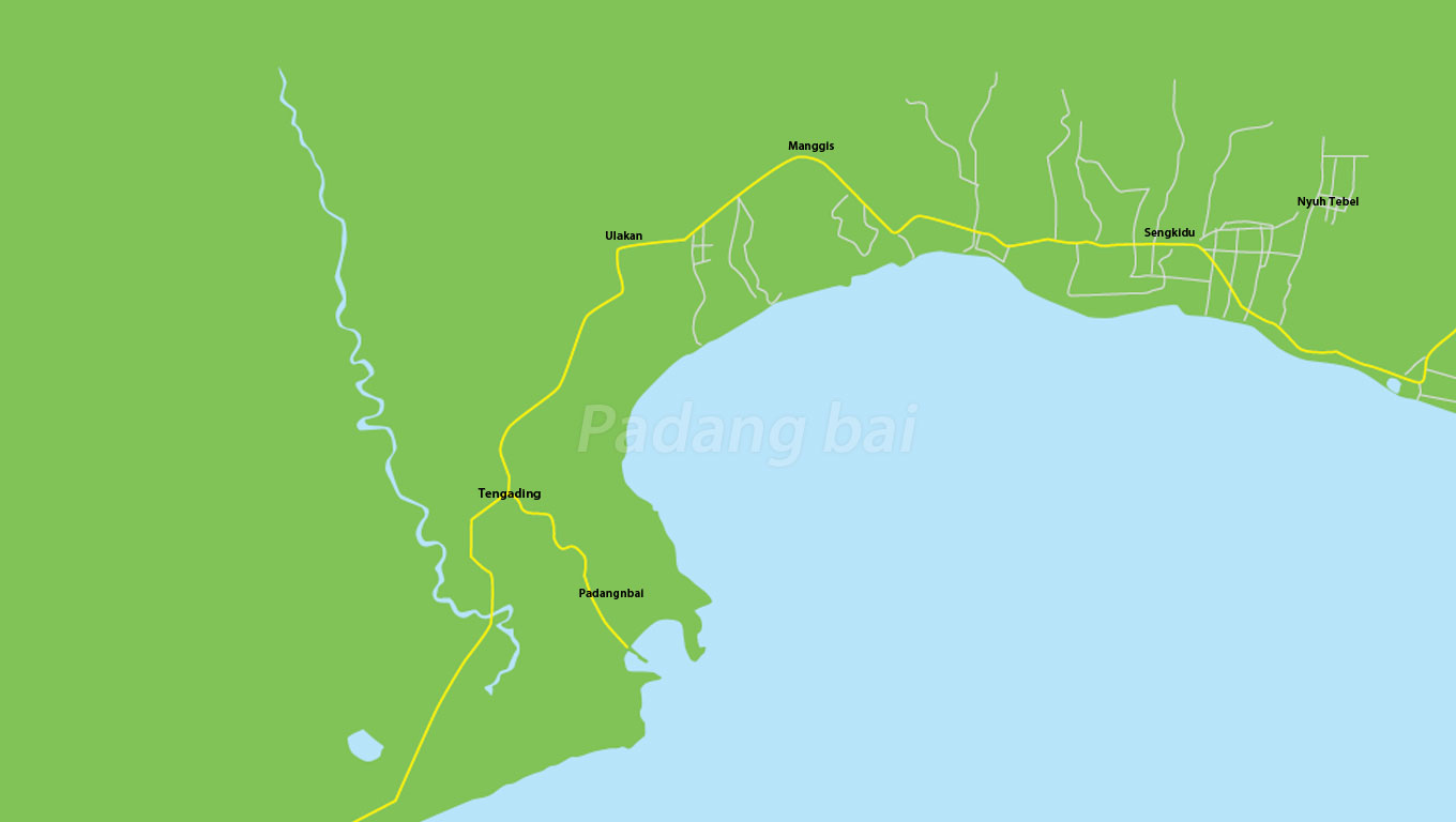 Padang Bai Map